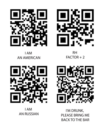 Qr and bbm code Stock Vector - 10336272