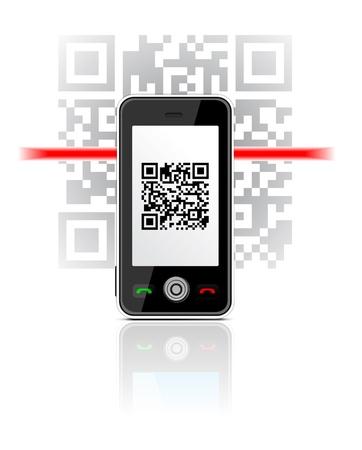 電話 scaned QR コード