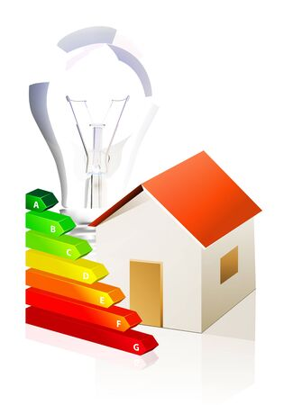house and energy classification Stock Vector - 10399555