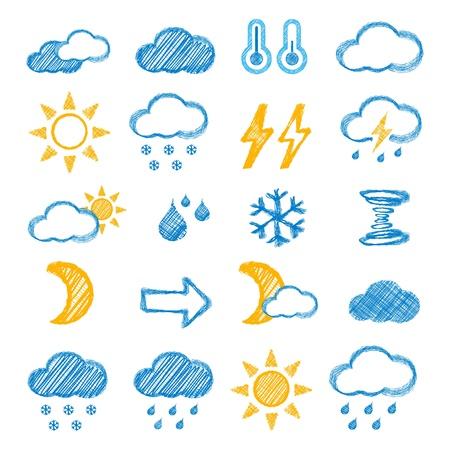 schets: Weer icoon Stock Illustratie