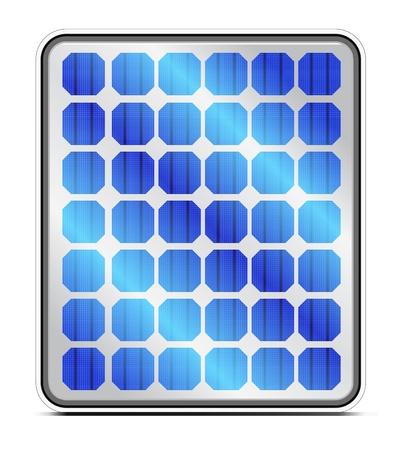 solar equipment: Reflexi�n en los paneles solares. Vector.