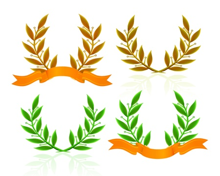 Laurel wreath with ribbon Stock Vector - 10516347
