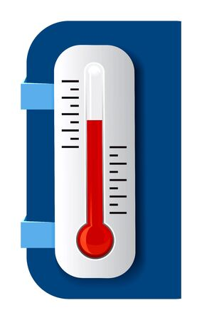barometer: Thermometer Vector