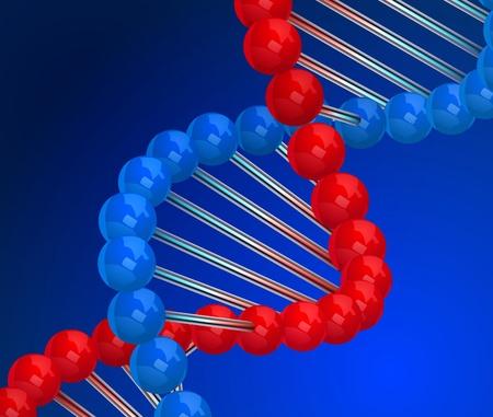 bioteknik: Dna 3d Illustration