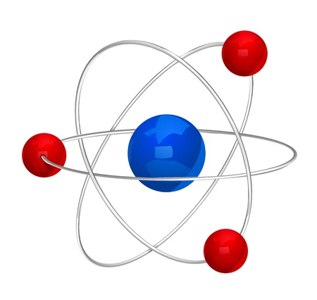 atomic energy: Atom symbol. Illustration