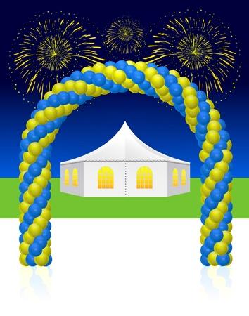 wedding tent: White wedding or entertainment tent