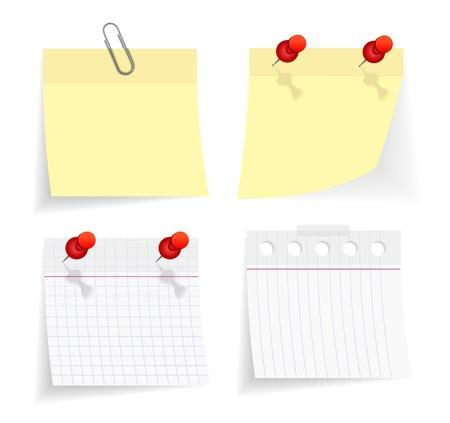 sticky paper: vector sticky paper set