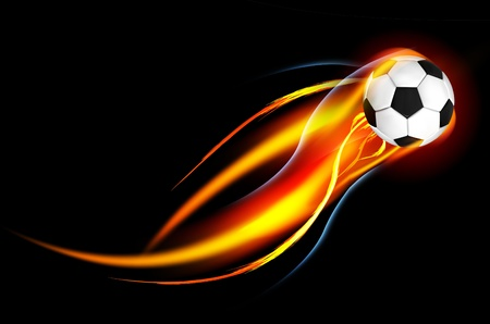 Soccer Ball on Fire Stock Photo - 10844349
