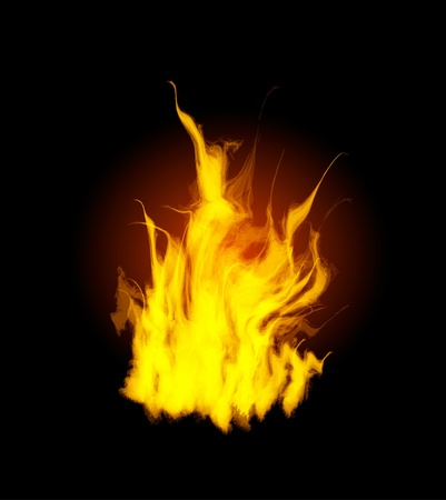 Burn flame fire Stock Vector - 10876270
