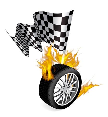 bandera carrera: Emblemas de raza de deportes