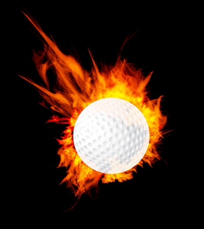 Golfball auf Feuer Illustration