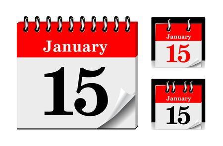 calendrier jour: Ic�ne calendrier Illustration