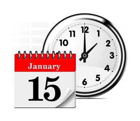 calendrier jour: Notion de temps