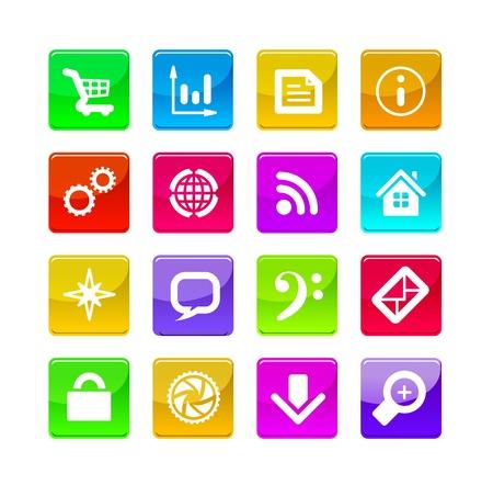 agenda electr�nica: iconos de las aplicaciones Vectores