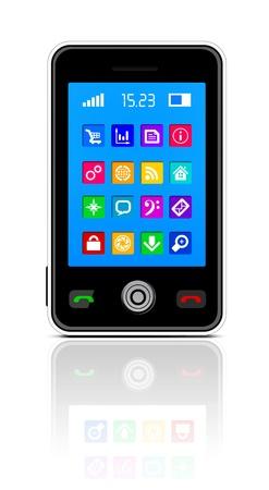 handy: Touchscreen smartphone