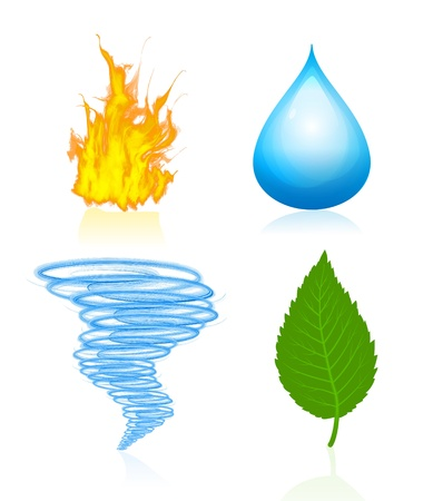 wind icon: Four elements of nature Illustration