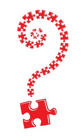 jig saw puzzle: Question mark puzzle