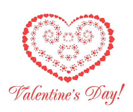Valentine's day vector background with hearts Stock Vector - 11843326