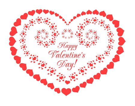 crimp: Valentines day vector background with hearts Illustration