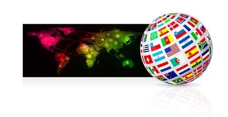 Globe frome flag Stock Vector - 11917151