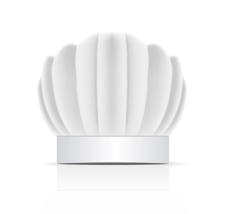 toque blanche: chefs hat traditionally called a toque blanche Illustration