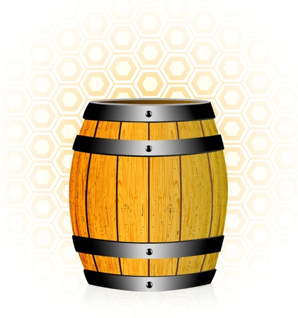 wooden barrel: wooden barrel with honey