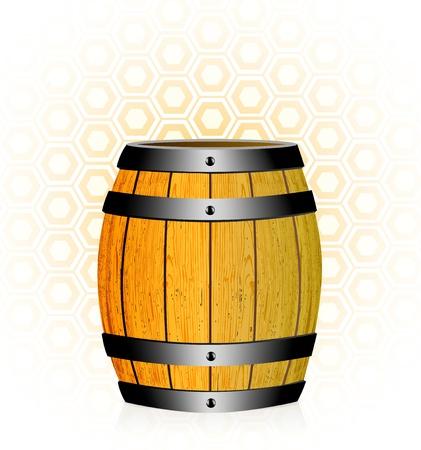 wood barrel: wooden barrel with honey