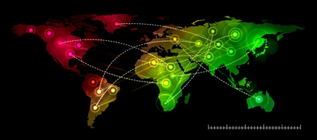 Illustration world map. Concept communication. Illustration