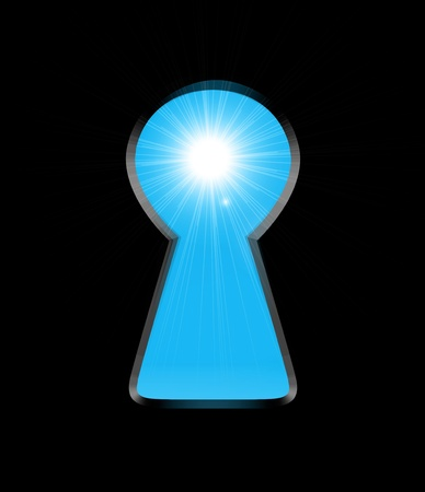 llave de sol: La luz del sol desde el ojo de la cerradura
