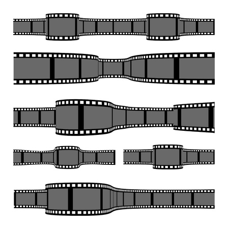 film negative: Film strip banners