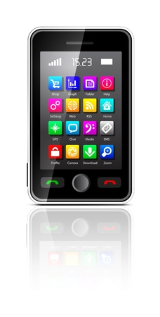 Touchscreen smartphone Stock Vector - 12442251