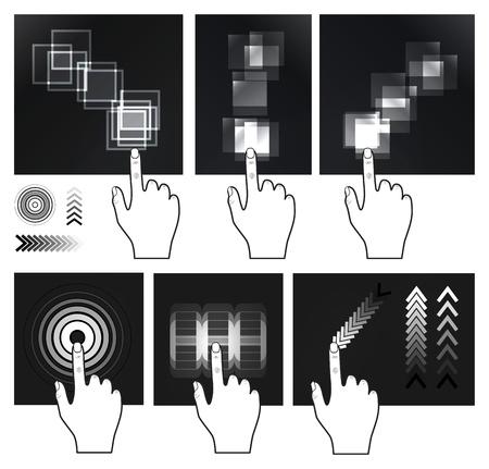 dedo indice: Gesto de la pantalla táctil, la interfaz de