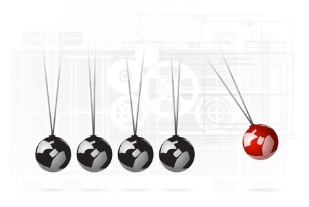 sir: Newtons cradle concept