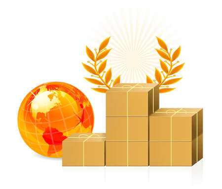 Shipping box - pedestal Vector