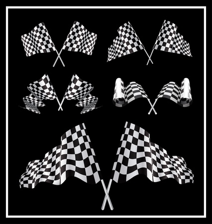 Checkered Flags set Stock Vector - 12781761