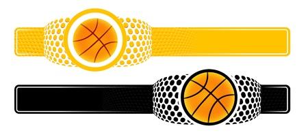 Basketball advertising banner Vector