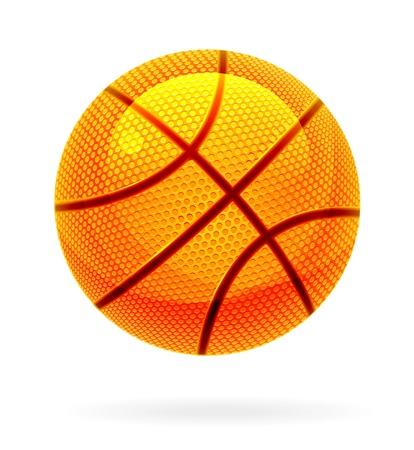 rubber ball: Orange basket ball Illustration