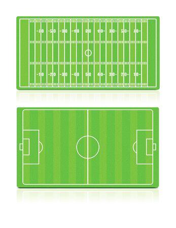 gridiron: Campos de deportes creado con la hierba