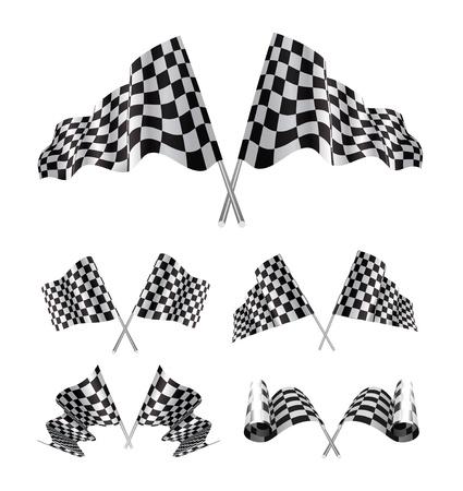 checker flag: Banderas a cuadros configurar
