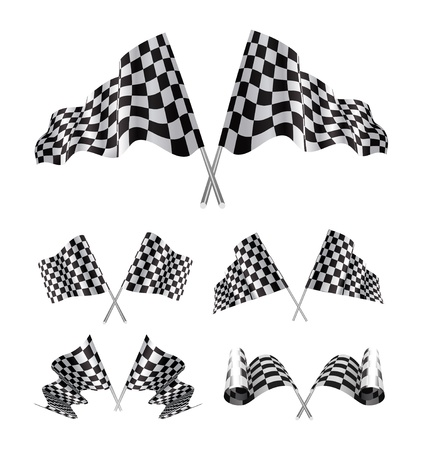 Checkered Flags set Stock Vector - 13014502