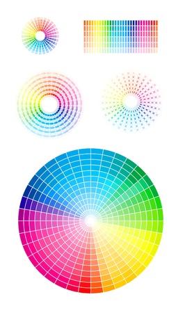 chromatique: La roue de couleur. Illustration
