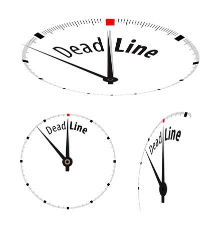 chronologie: Blanc avec l'horloge Date limite mot sur sa face