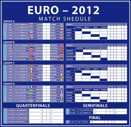 Euro 2012 shedule matches  Time Ukrainian