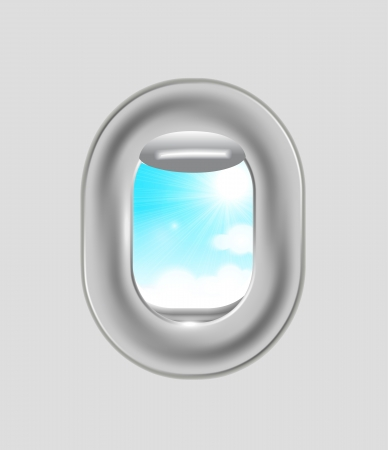 Airplane window Stock Vector - 14164709