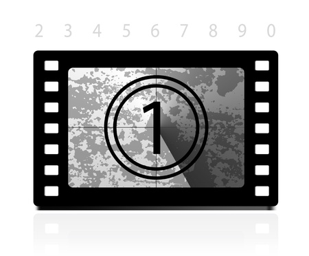 Grunge film countdown Stock Vector - 14227093