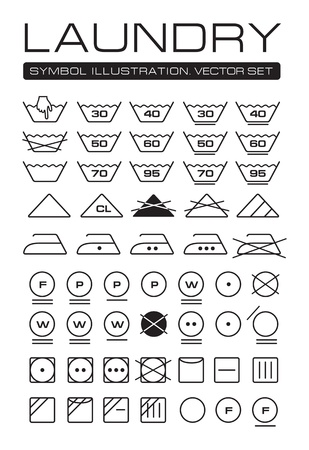Laundry Symbols Collection Stock Vector - 14255363