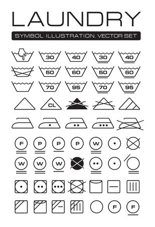 Wäscheservice Symbole Sammlung