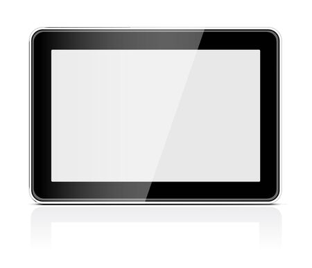 Black generic tablet pc Stock Vector - 14287529
