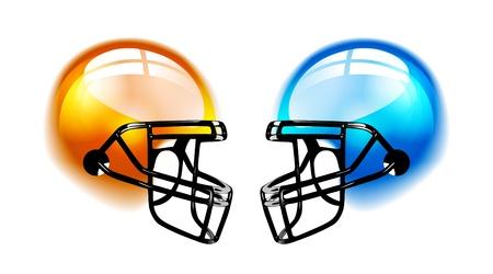 Football Helme auf weiß