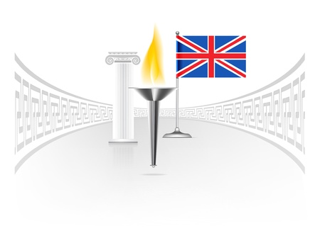 England flag with torch Stock Vector - 14503148
